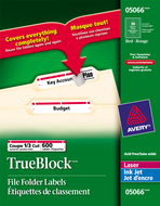 Avery<sup>&reg;</sup> Filing Labels with TrueBlock&trade; Technology 5066