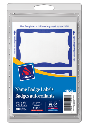 Avery<sup>®</sup> Name Badge Labels - Avery<sup>®</sup> Name Badge Labels