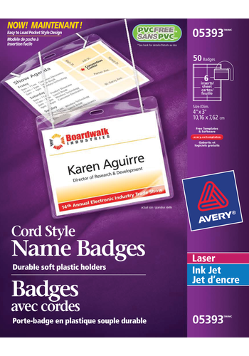Avery<sup>®</sup> Hanging Name Badge kit - Avery<sup>®</sup> Hanging Name Badge kit