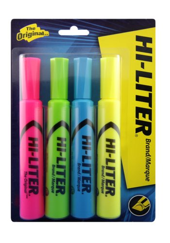 Avery® 83564 - Desk Style HI-LITER® , Assorted Colours