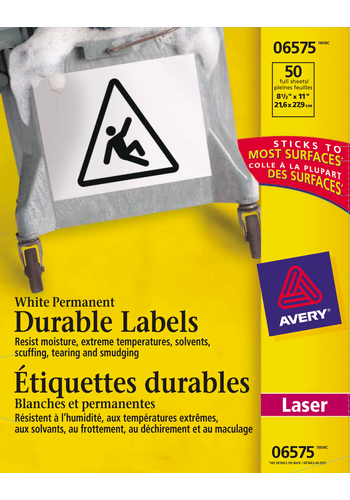 Avery<sup>&reg;</sup> Durable ID Labels with TrueBlock&trade; Technology - Avery<sup>&reg;</sup> Durable ID Labels