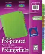 Avery<sup>®</sup> Intercalaires en Plastique Préimprimés 11331