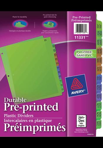Avery<sup>&reg;</sup> Intercalaires en Plastique Préimprimés - Avery<sup>&reg;</sup> Intercalaires en Plastique Préimprimés