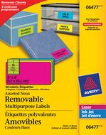 Avery<sup>&reg;</sup> Étiquettes d'identification Amovibles pour imprimantes à laser ou jet d'encre 6477