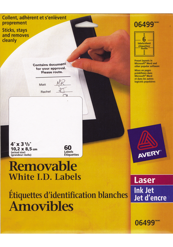 Avery<sup>®</sup> Removable ID Labels - Avery<sup>®</sup> Removable ID Labels