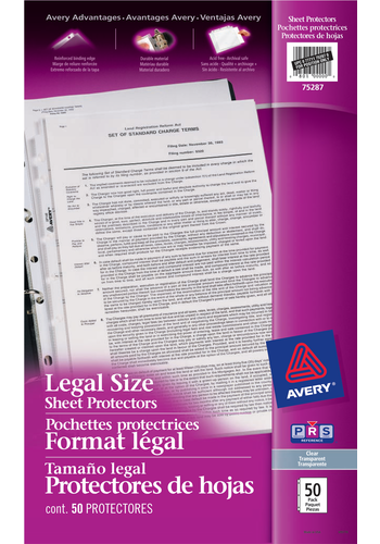 Avery<sup>&reg;</sup> Legal Size Sheet Protectors - Avery<sup>&reg;</sup> Legal Size Sheet Protectors