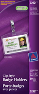 Avery<sup>&reg;</sup> Porte-badges avec pinces format horizontal 2921
