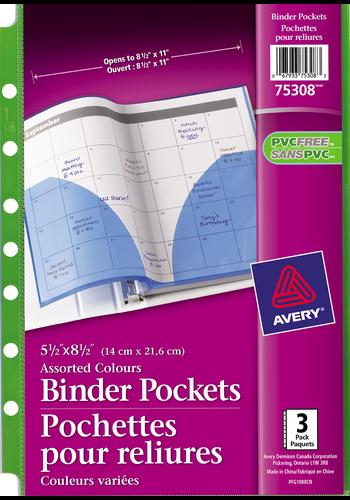 Avery<sup>&reg;</sup> Binder Pockets - Avery<sup>&reg;</sup> Binder Pockets