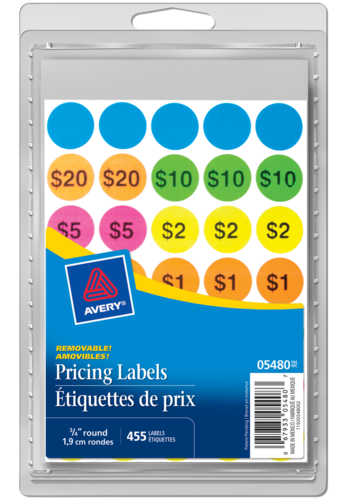Avery<sup>&reg;</sup> Removable Preprinted Garage Sale Labels - Avery<sup>&reg;</sup> Removable Preprinted Garage Sale Labels
