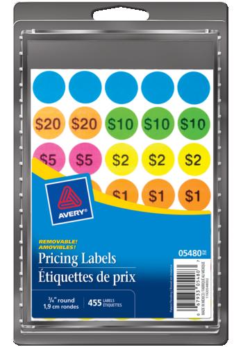 Avery<sup>®</sup> Étiquettes préimprimées amovibles pour vente de garage - Avery<sup>®</sup> Étiquettes préimprimées amovibles pour vente de garage