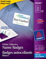 Avery<sup>&reg;</sup> Badges flexibles pour imprimantes à laser ou jet d'encre 5395