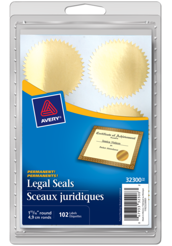 Avery<sup>®</sup> Legal Seals - Avery<sup>®</sup> Legal Seals