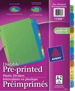 Avery<sup>&reg;</sup> Intercalaires en Plastique Préimprimés 11330