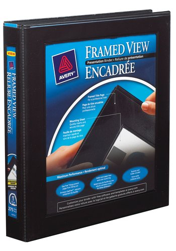 Avery® 68054 - Framed View Binder,  Holds 8½in. x 11in. Paper, Black