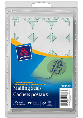 Avery<sup>®</sup> Permanent Mailing Seals - Avery<sup>®</sup> Permanent Mailing Seals