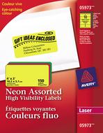 Avery<sup>&reg;</sup> Étiquettes Voyantes pour imprimantes à laser 5973