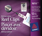 Avery<sup>&reg;</sup> Retractable Reel Clip 74711