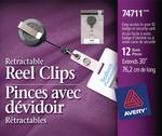 Avery<sup>®</sup> Pinces avec dévidoir rétractables 74711