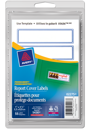 Avery<sup>®</sup> Report Cover Labels - Avery<sup>®</sup> Report Cover Labels