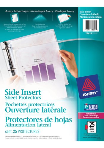 Avery® 78629 - Pochette protectrices ,  8-1/2in. x 11in., Clarté d'un diamantClarté d'un diamant