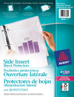 Avery<sup>&reg;</sup> Side Insert Sheet Protectors 78629