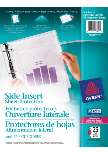 Avery<sup>&reg;</sup> Pochette protectrices avec ouverture latérale - Avery<sup>&reg;</sup> Pochette protectrices