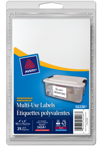Avery<sup>&reg;</sup> Multi-Use Removable Labels - Avery<sup>&reg;</sup> Multi-Use Removable Labels