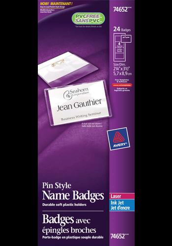 Avery<sup>&reg;</sup> Pin Style Name Badge Kit - Avery<sup>&reg;</sup> Pin Style Name Badge Kit