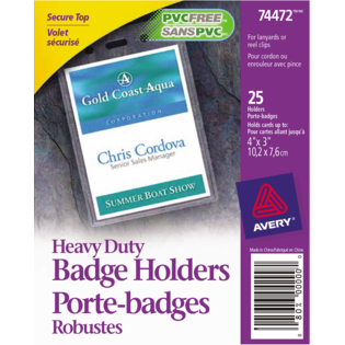 Avery® Vertical Name Badge Holders
