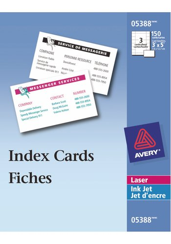 avery u00ae index cards for laser and inkjet printers  3 u0026quot  x 5