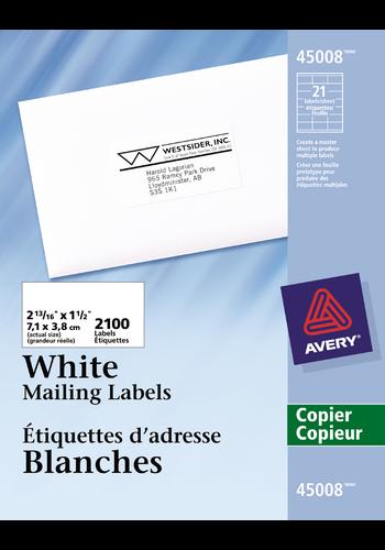 Avery<sup>&reg;</sup> Étiquettes d'adresse pour copieurs - Avery<sup>&reg;</sup> Étiquettes d'adresse pour copieurs