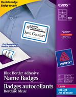 Avery<sup>&reg;</sup> Badges flexibles pour imprimantes à laser ou jet d'encre 5895