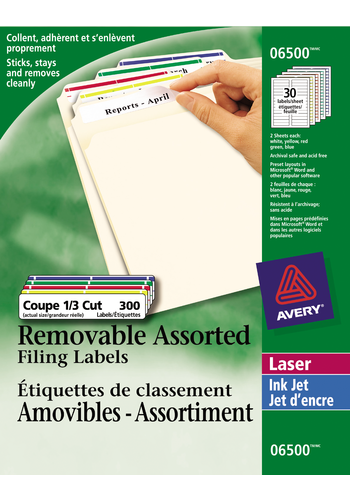 Avery<sup>®</sup> Removable Filing Labels - Avery<sup>®</sup> Removable Filing Labels