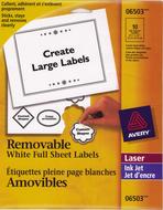 Avery<sup>&reg;</sup> Étiquettes d'identification Amovibles pour imprimantes à laser ou jet d'encre 6503