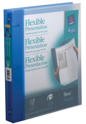 Avery® 17675 - Reliure flexible,  Dit 8½ in.x 11in. Papier, Bleu