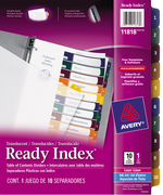 Avery<sup>&reg;</sup> Ready Index<sup>&reg;</sup> Translucent Table of Content Dividers 11818