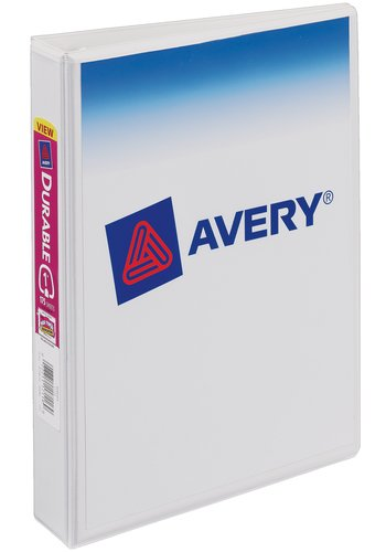 Avery® 17116 - Durable View Binder,  Holds 5½in. x 8½in. Paper, White