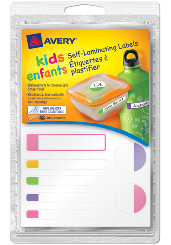 Avery<sup>®</sup> Kids Self-Laminating Labels - Avery<sup>®</sup> Kids Self-Laminating Labels