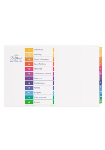 Avery® 11149 - Ready Index® Table of Content Dividers ,  11in. x 17in., Multi-colour