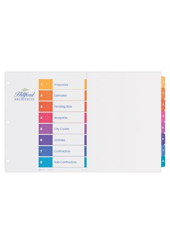 Avery® 11148 - Ready Index Intercalaires ,  11in.  x 17in., Multi-couleur