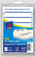 Avery<sup>®</sup> File Folder Labels 5200