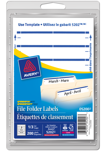Avery<sup>&reg;</sup> File Folder Labels - Avery<sup>&reg;</sup> File Folder Labels