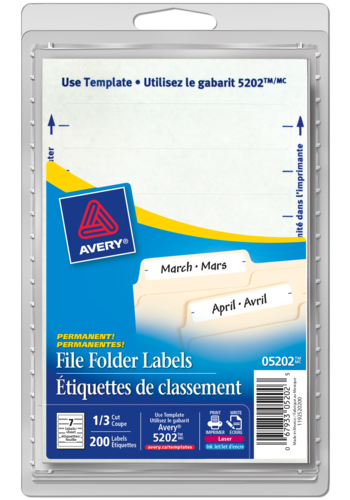 Avery<sup>®</sup> File Folder Labels - Avery<sup>®</sup> File Folder Labels