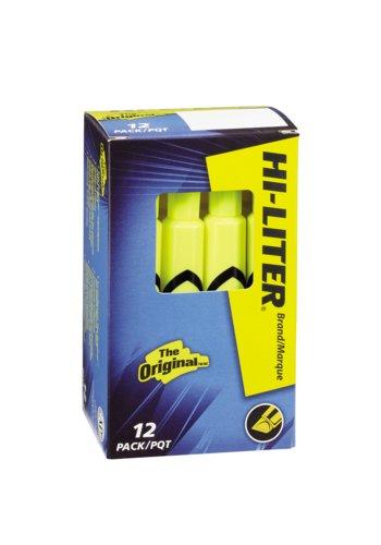 Avery® 83507 - HI-LITER®  Surligneur modèle bureau, Jaune Fluoresecent