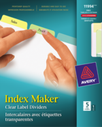 Avery<sup>&reg;</sup> Index Maker<sup>&reg;</sup> Clear Label Dividers 11994