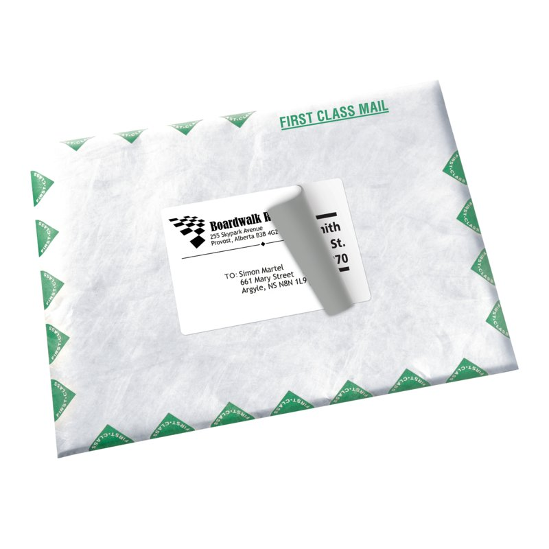 Shipping Labels Avery 08168 3 12 X 5 Rectangle White