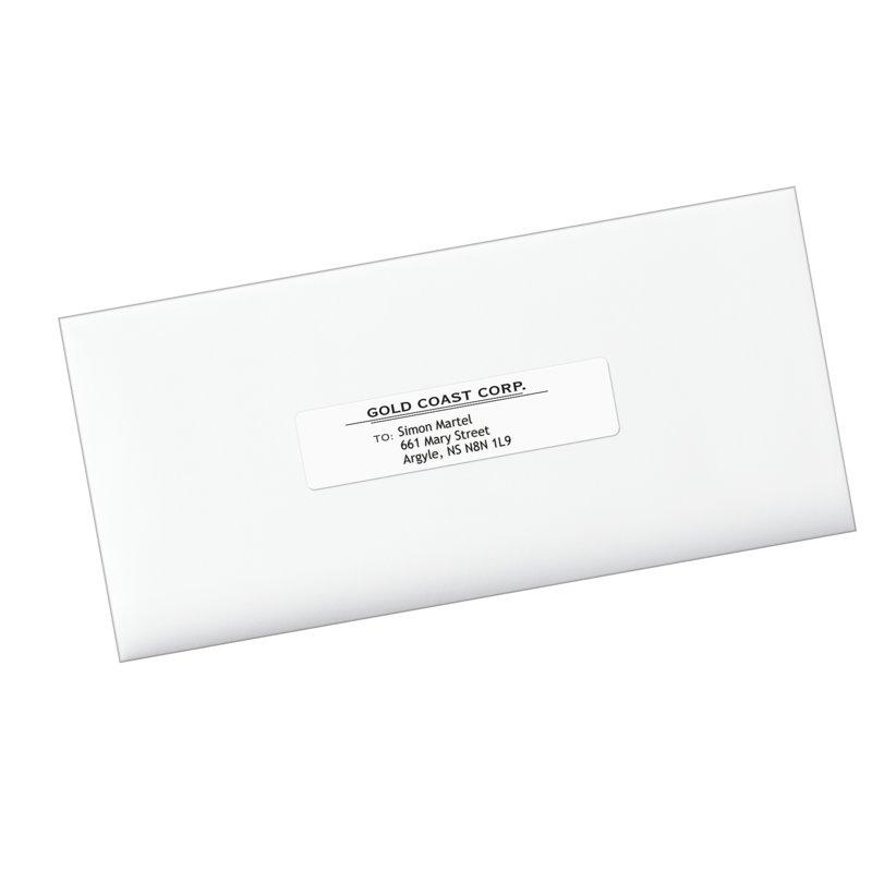 Avery 5261 Address Labels 1 X 4 Rectangle White