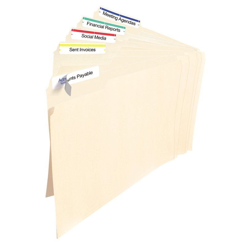 Avery 05266 Filing Labels 23 X 3 716 Rectangle Assorted
