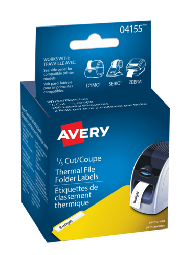 Avery<sup>&reg;</sup> Filing Labels for Thermal Label Printers and Label Makers - Avery<sup>&reg;</sup> Filing Labels