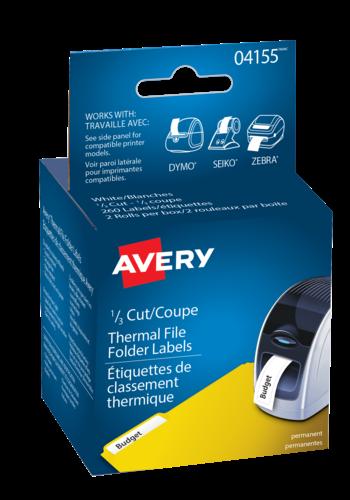 Avery<sup>&reg;</sup> Étiquettes de classement pour imprimantes d'étiquettes thermiques - Avery<sup>&reg;</sup> Étiquettes de classement